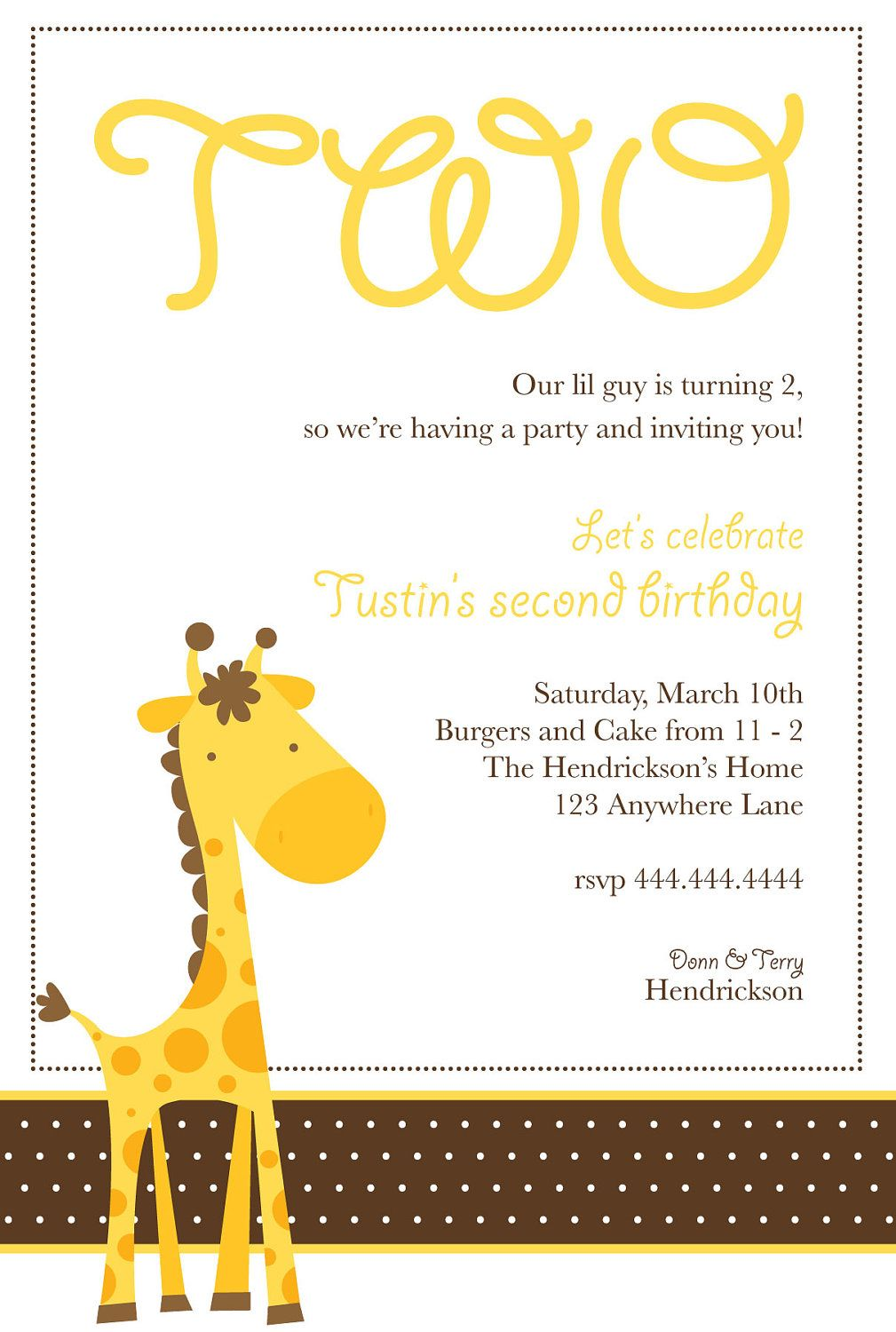 Giraffe Birthday Party Invitation by LovingEweLane on Etsy | Baby ...