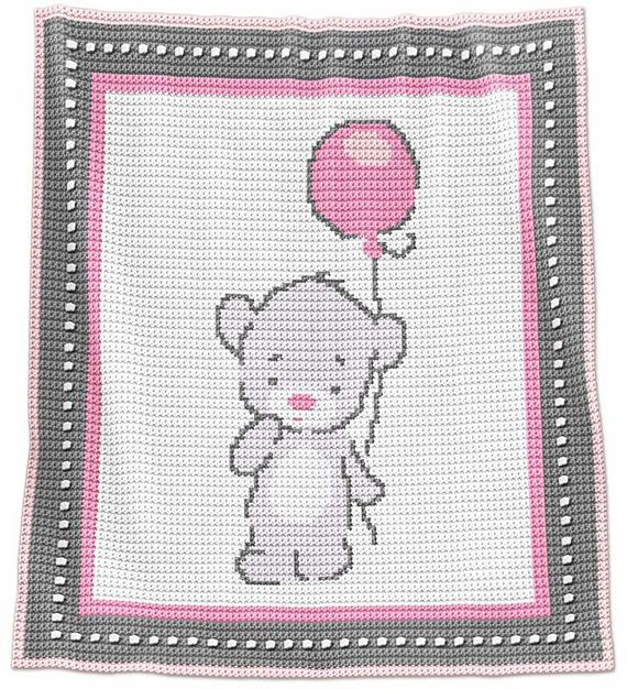Crochet Blanket Pattern Crochet Baby Blanket Pattern Baby | manta ...