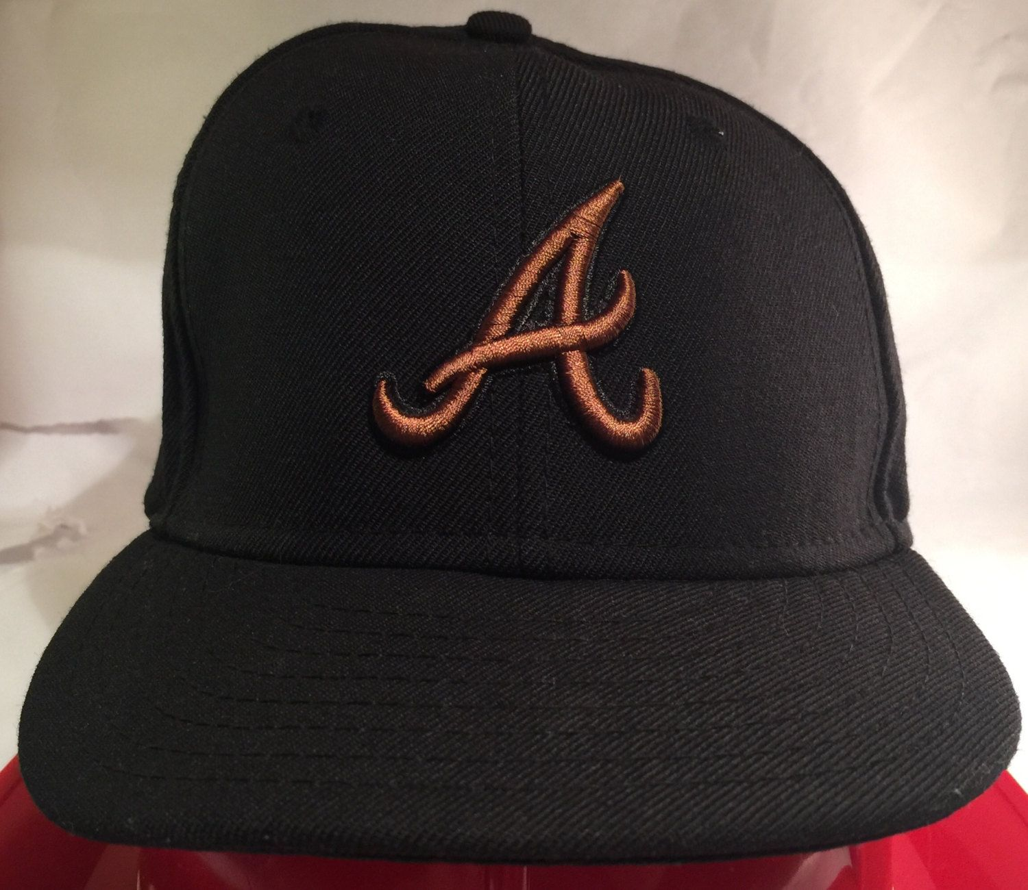 Atlanta Braves Brown And Black New Era Fitted Cap Size 6 5 8 By Corycranksouthats On Etsy New Era Fitted Atlanta Braves New Black
