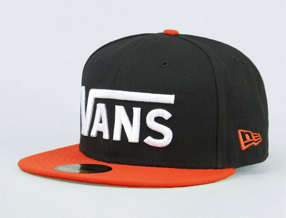 Drop V Black-Tigerlily 59Fifty Fitted Baseball Cap by VANS x NEW ERA ... 976be7dbbed5