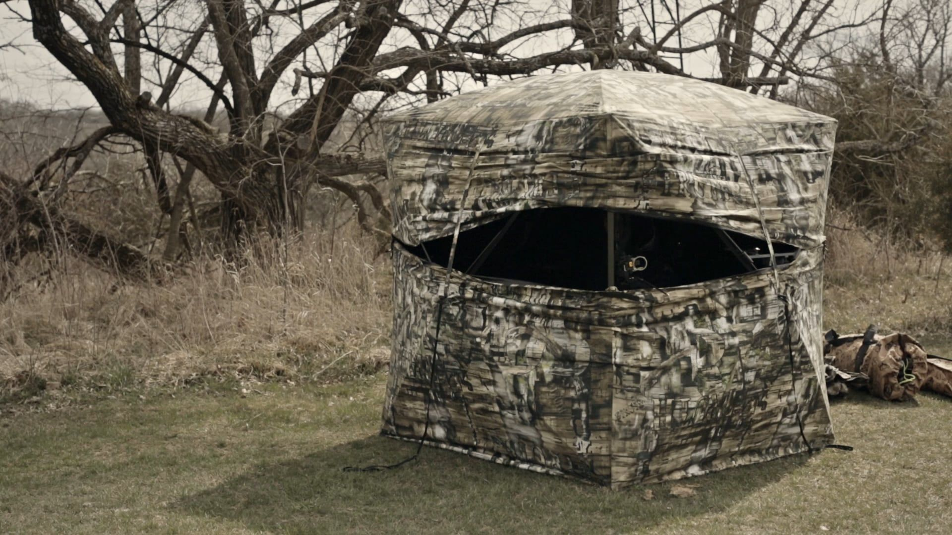 outdoors gear heavy top hunting ground blind com best for deer guide blinds