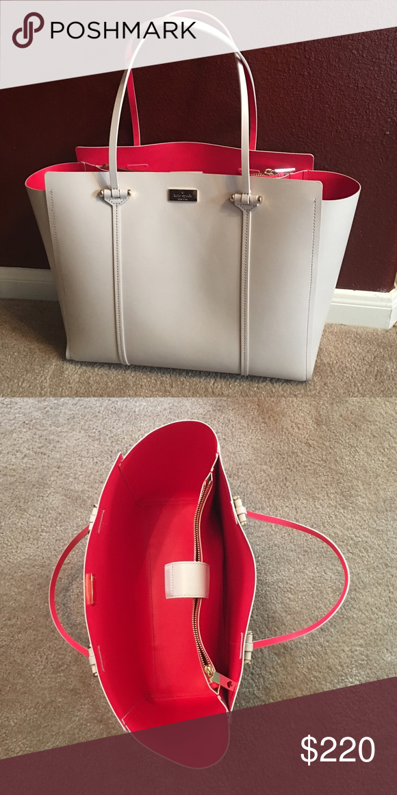 Kate spade Angelle arbour hill tote. Pebble Kate spade Annelle arbour hill tote. Pebble and pink. Used less than 5 times. In perfect condition. kate spade Bags Totes