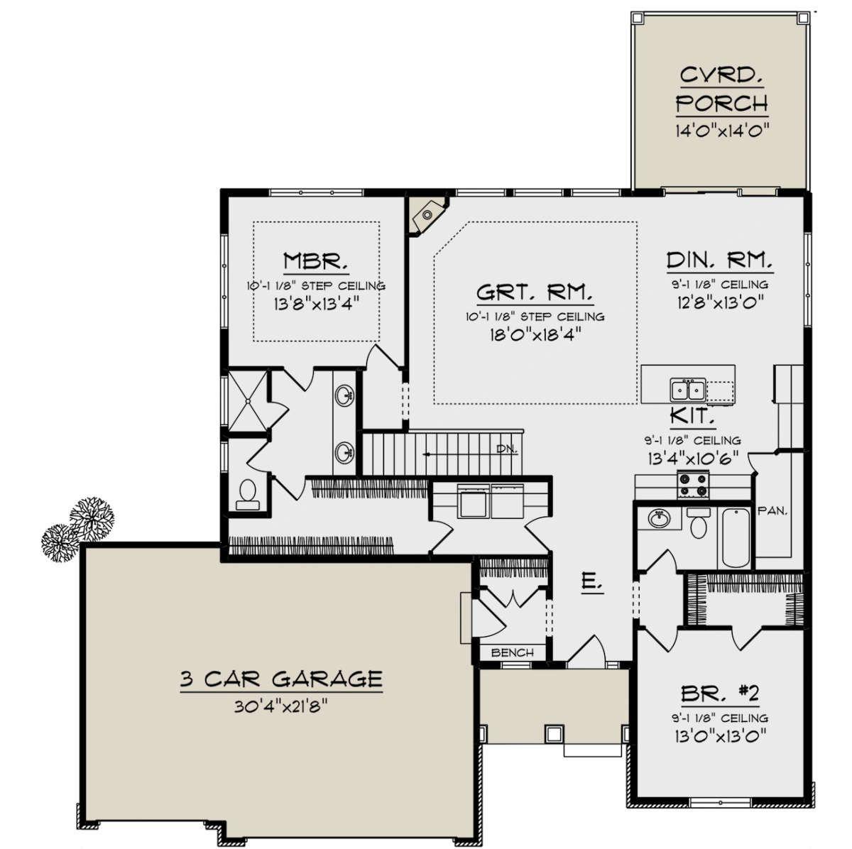 House Plan 1020 00007 Ranch Plan 1 703 Square Feet 2