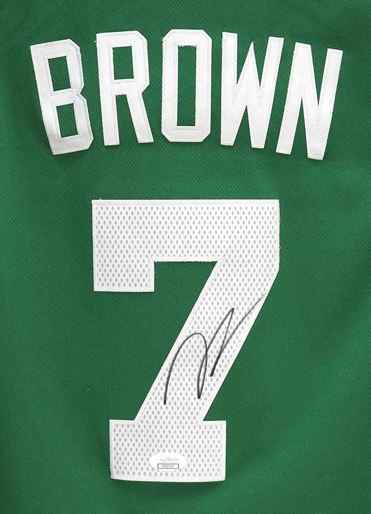 Jaylen Brown Boston Celtics Signed Autographed Green 7 Jersey Size M Sports Autographs Com Boston Celtics Jsa Logo Sewing