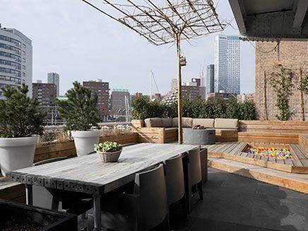 Große Dachterrasse Loft-Wohnung in Rotterdam | Dachgarten ...