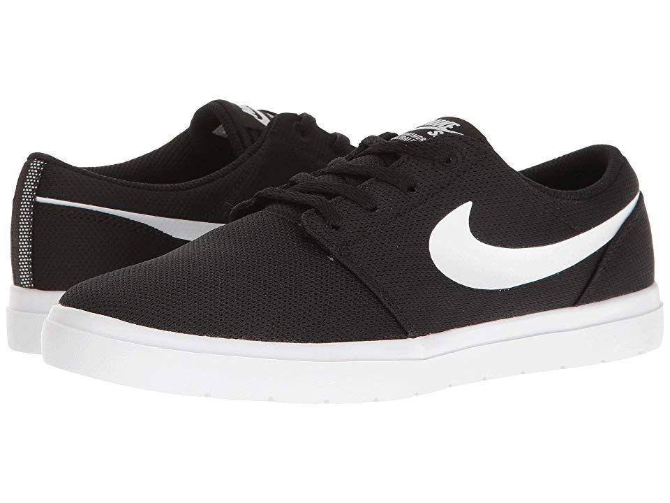 Nike Sb Kids Portmore Ii Ultralight Big Kid Boy S Shoes Black White Boys White Shoes Boys Shoes Black Boys Shoes Kids