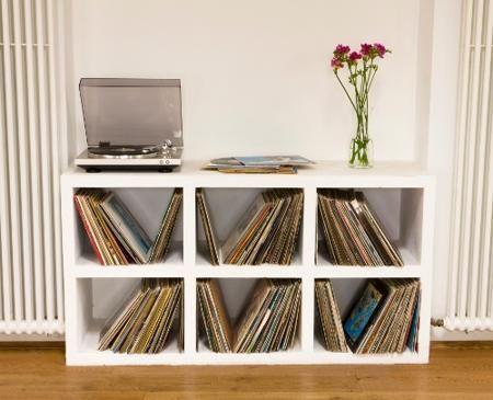 Marvelous Floor Shelf Showcase Vinyl Record Storage