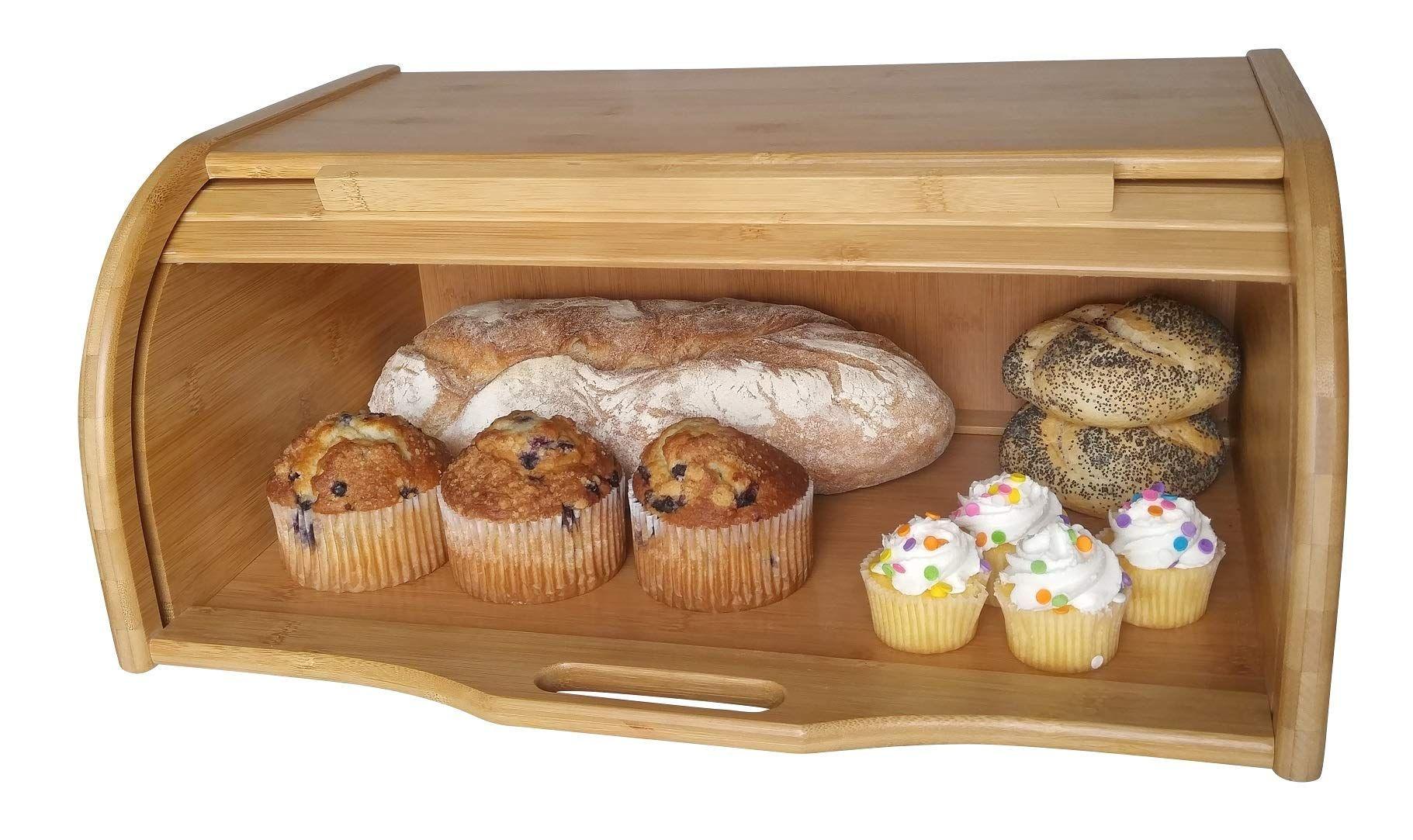 Large Bread Box Bread Basket Wooden Box Storage Boxes Kitchen