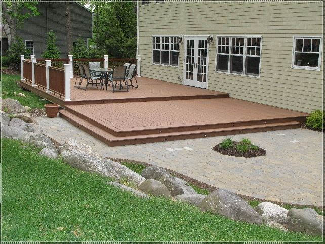 Ground level decks photo gallery of the how to build a for Low elevation deck plans