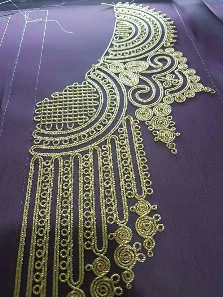 Couching Pinterest Embroidery Caftans And Tambour
