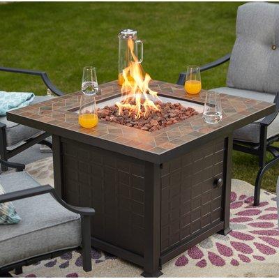 Ebern Designs Pointer Steel Propane Fire Pit Table Propane Fire
