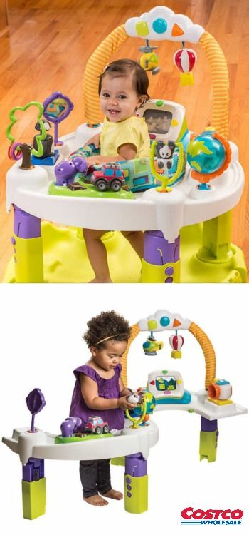 The ExerSaucer Triple Fun World Explorer, a safe ...