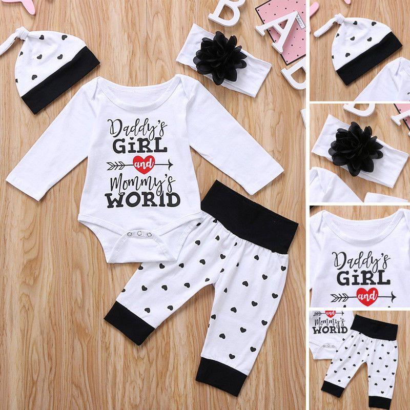 d5e31cffb Newborn Kid Baby Girls Floral Clothes Romper Bodysuit Pants Outfit ...