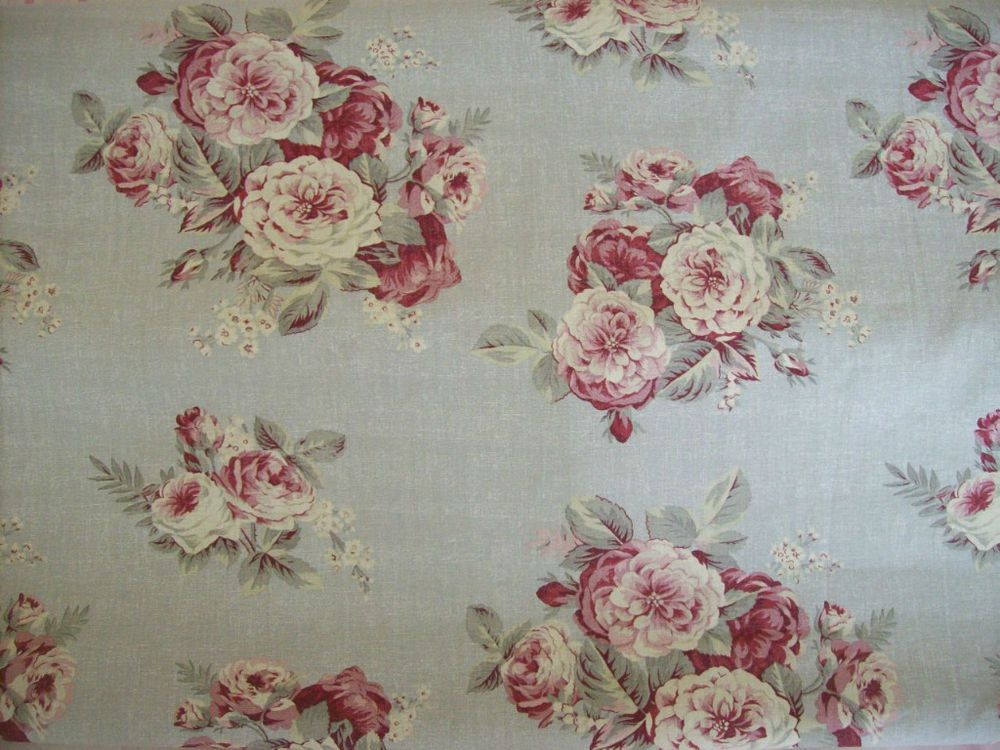 Rachel Ashwell Blue Rose Linen Fabric By Yard Manor Floral Bedding Upholstery