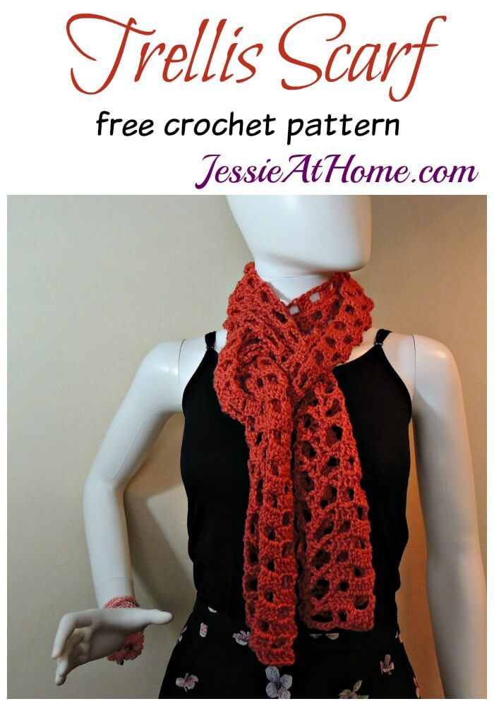 Trellis Scarf - free crochet pattern by Jessie At Home | Crochet ...