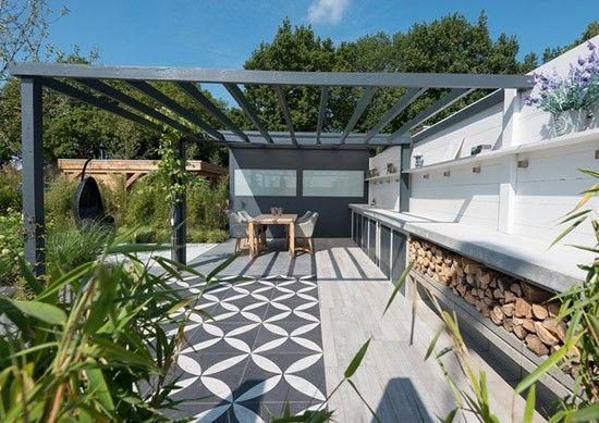 Tegels Met Motief : Binnen buiten tuinen ijzeren veranda tegels met motief hout gras