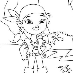 Izzy the Vice Captain of Never Land Pirates Coloring Page Izzy