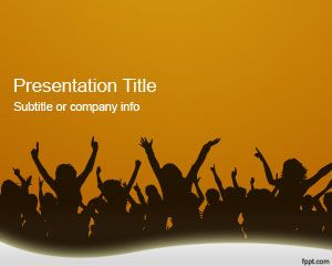 Orange crowd powerpoint template is a free presentation template free ppt template toneelgroepblik Gallery