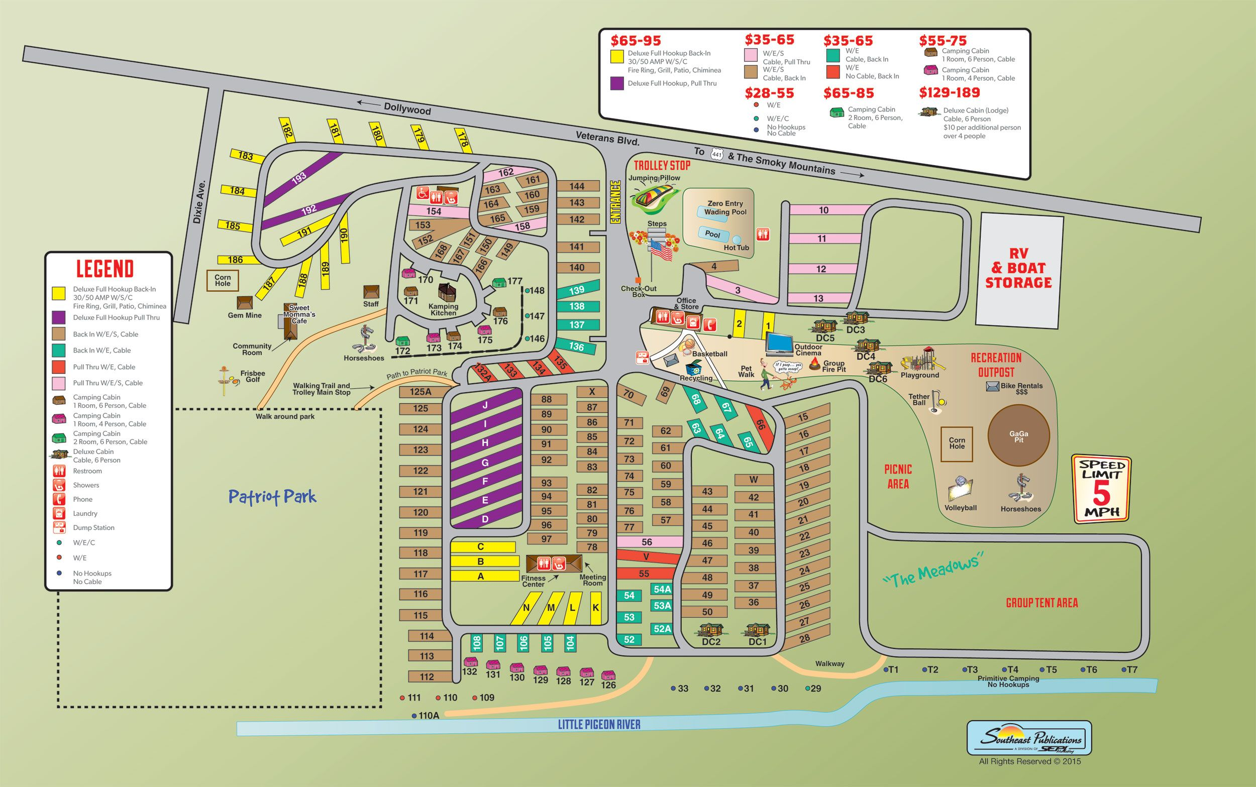 Campground Site Map Rv Camping Camping Locations Rv