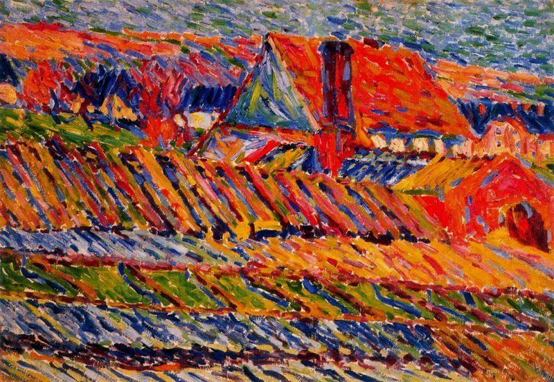 Karl Schmidt-Rottluff (German 1884–1976) [German Expressionism, Die Brücke] Gardening, 1906.