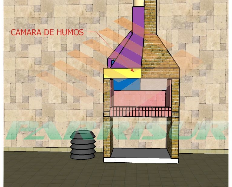 Campana Sin Humo Chimeneas De Obra Parrilleras De Ladrillos Planos De Chimeneas