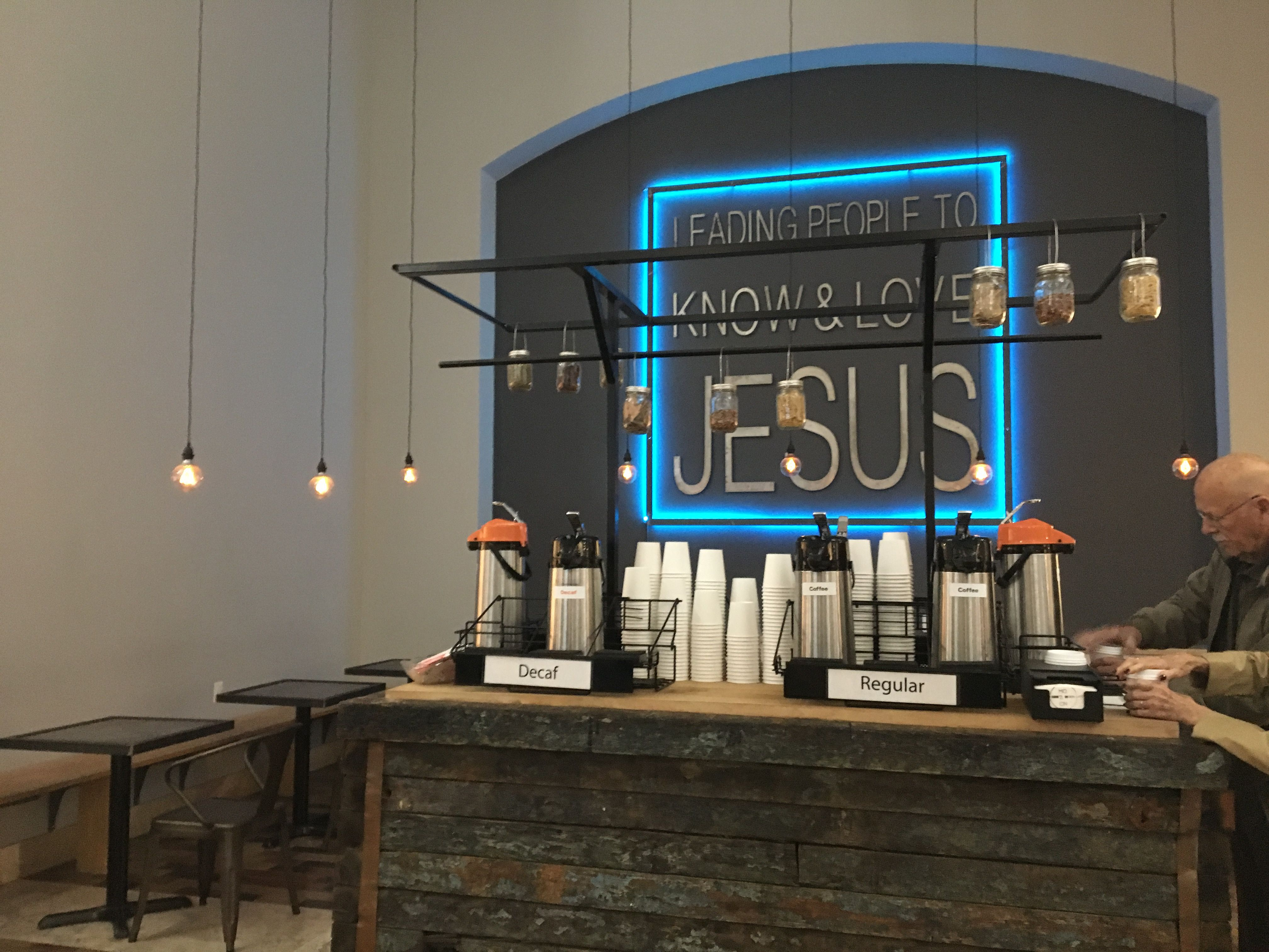 coffee cart. Thechurch@RB Can access on all 4 sides