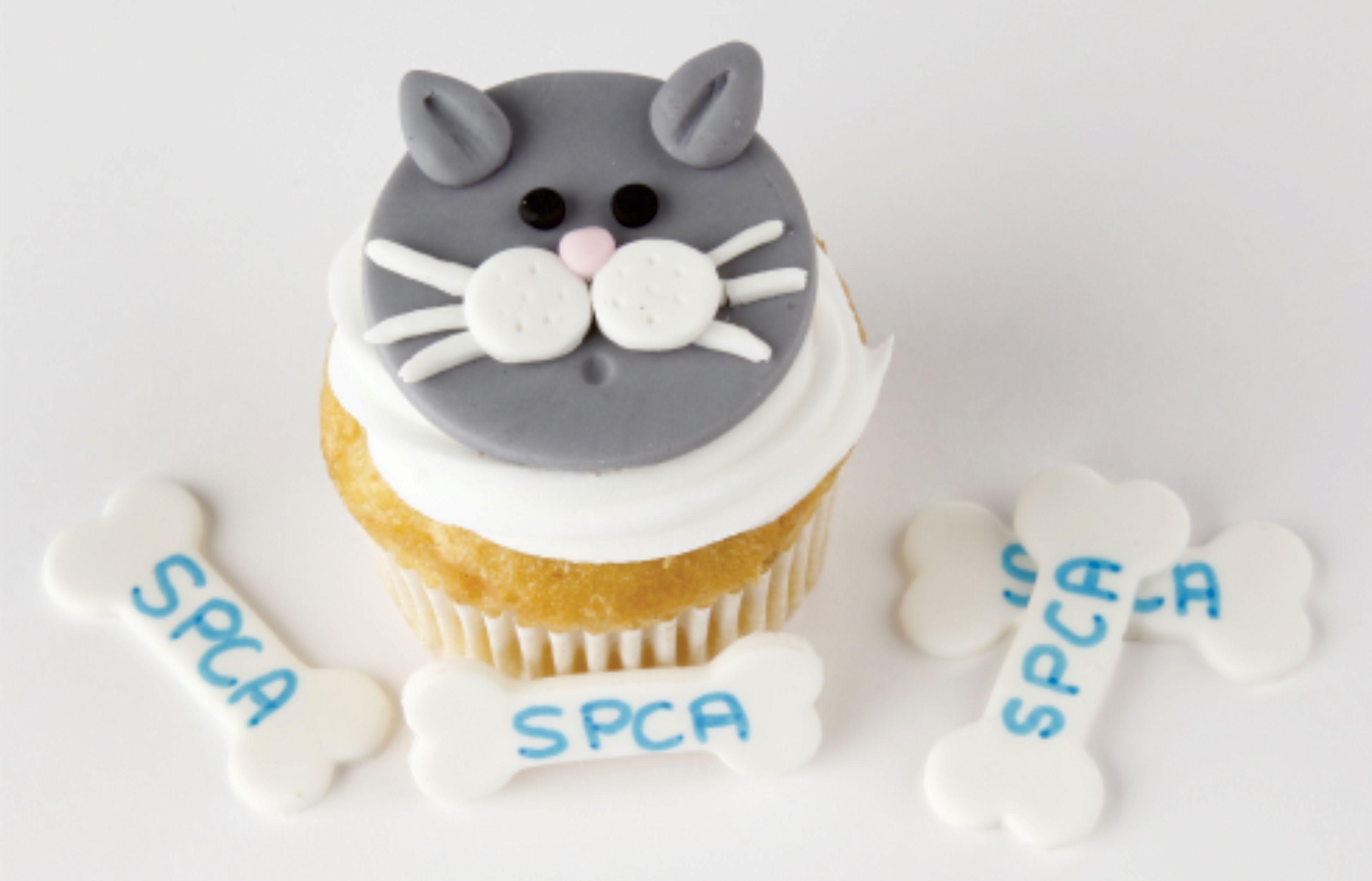 Finish cat cake topper fondant cat cat wedding cake topper
