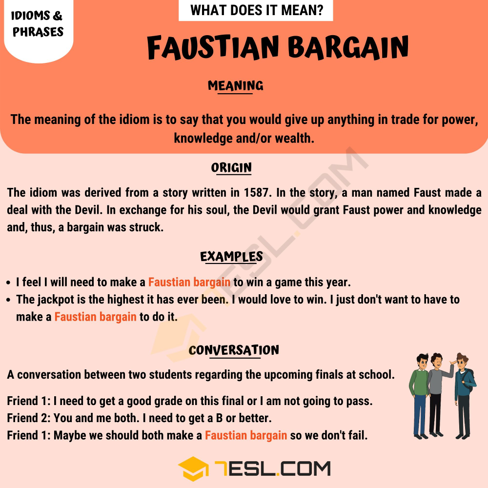 Faustian Bargain Meaning What Does This Useful Idiom Mean