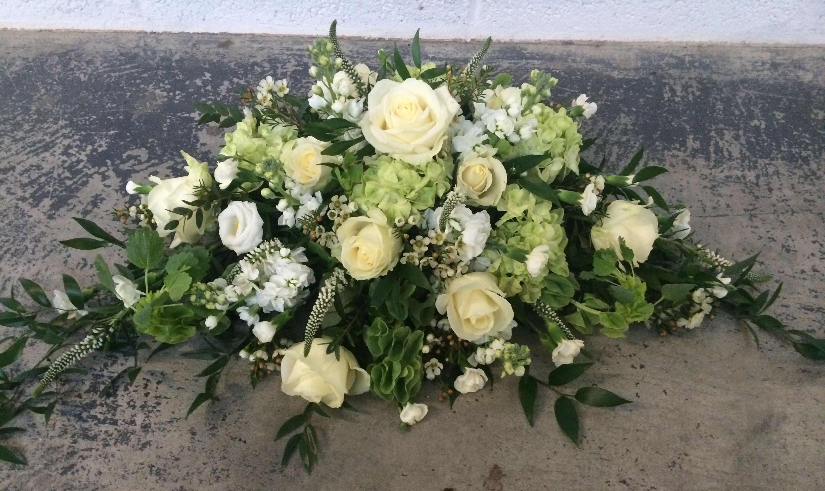 Wedding Flowers, Ceremony Flowers, Top Table, Green Flowers