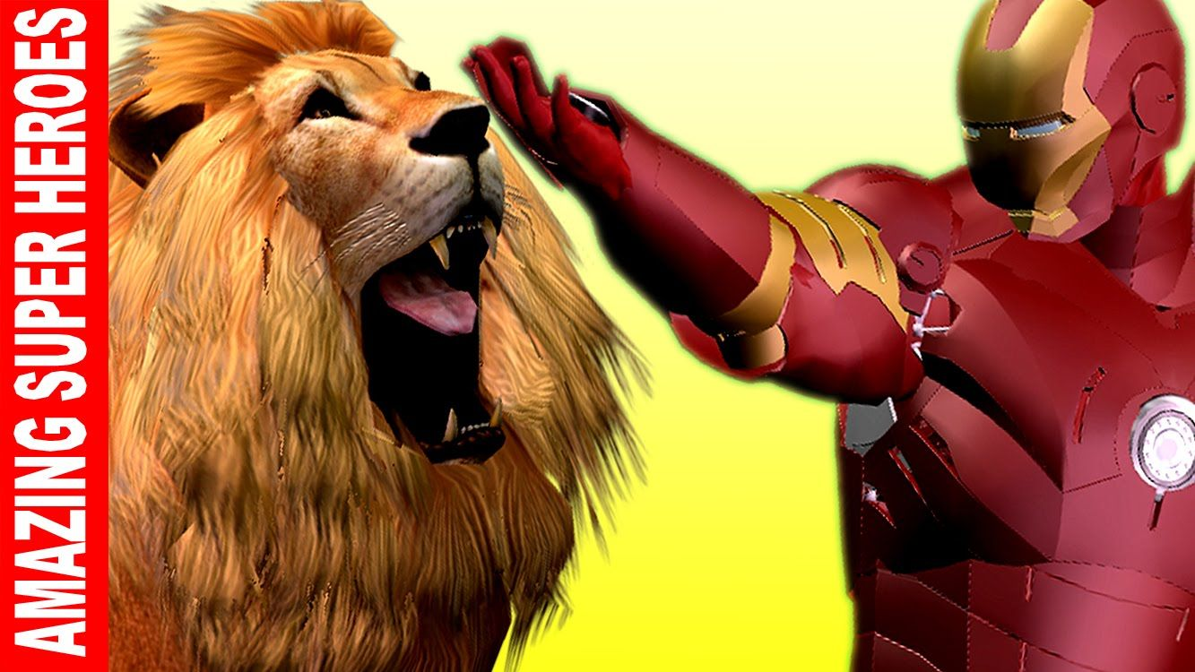 Ironman Finger Family Epic Battles with Transformers | Lion Attacks Deer...