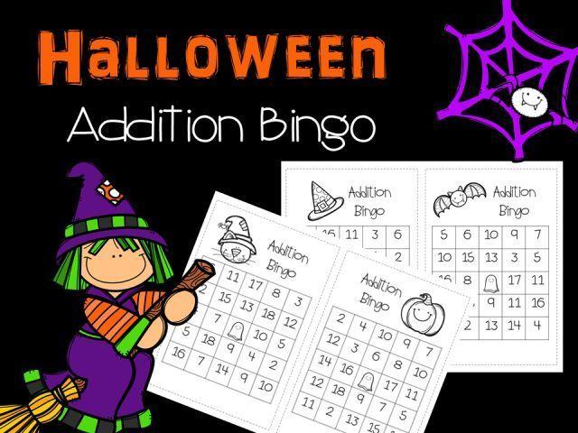 Halloween Freebie!   Halloween math, Math bingo and Bingo games