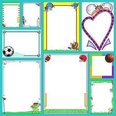 Bordes educativos de deportes para carteles y trabajos - Paginas de decoracion ...