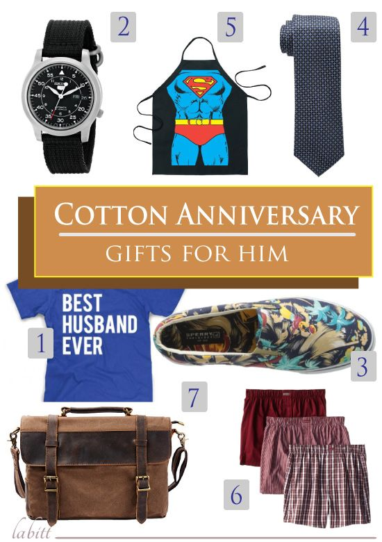 Top 7 Cotton Anniversary Gift Ideas For Him Updated May 2017