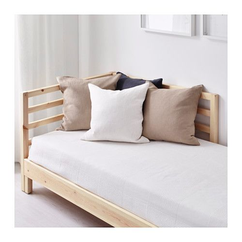 Tarva day bed with 2 mattresses pine moshult firm ikea for Sillon cama individual ikea