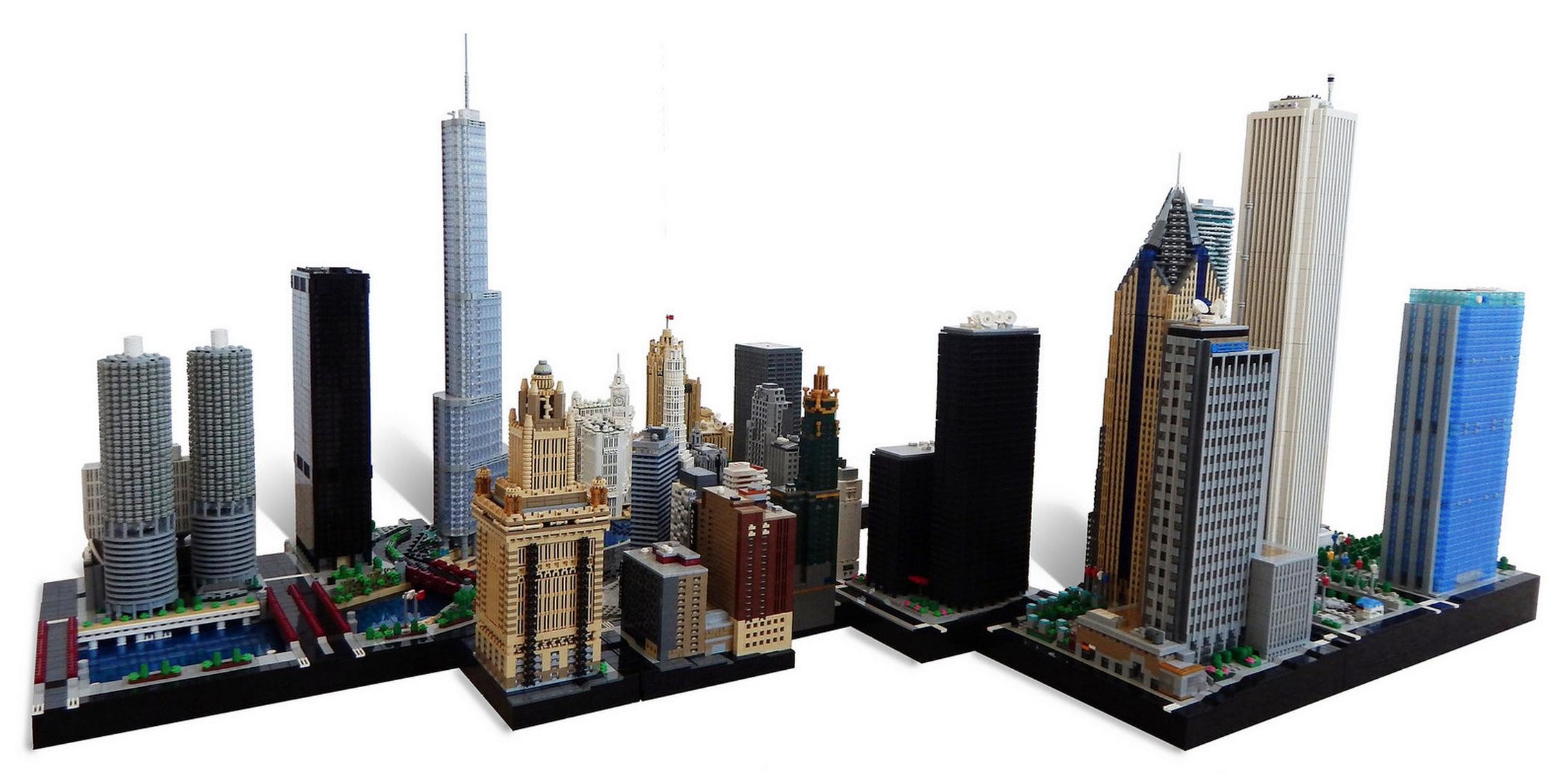 Chicago Skyline In Lego