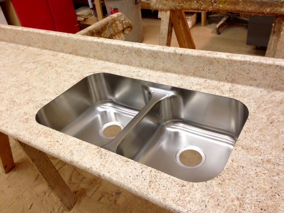 Undermount Bathroom Sink With Laminate silver travertine, windsor karran undermount sink bowls, bullnose