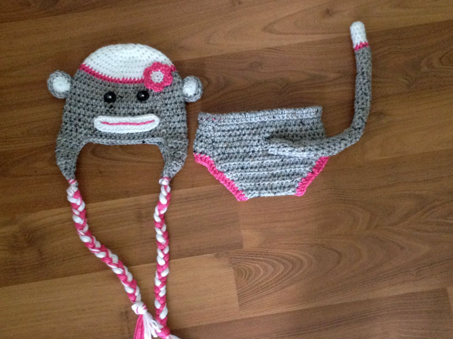 Instant download pdf monkey hat and diaper cover crochet pattern omgo bad my baby is a big girl bankloansurffo Images
