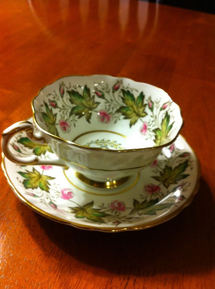 Paragon Tea cup Saucer - Commemorates visit of HRH Princes Elizabeth to Canada