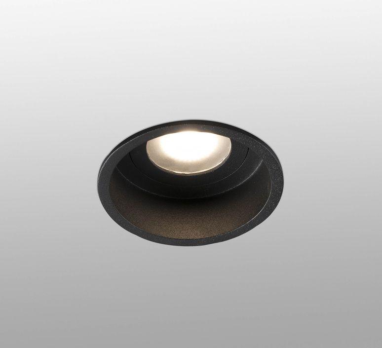 Spot Encastrable Hyde Ip44 Noir O8 9cm H5 5cm Faro Spot Encastrable Luminaires Encastres Source Lumineuse