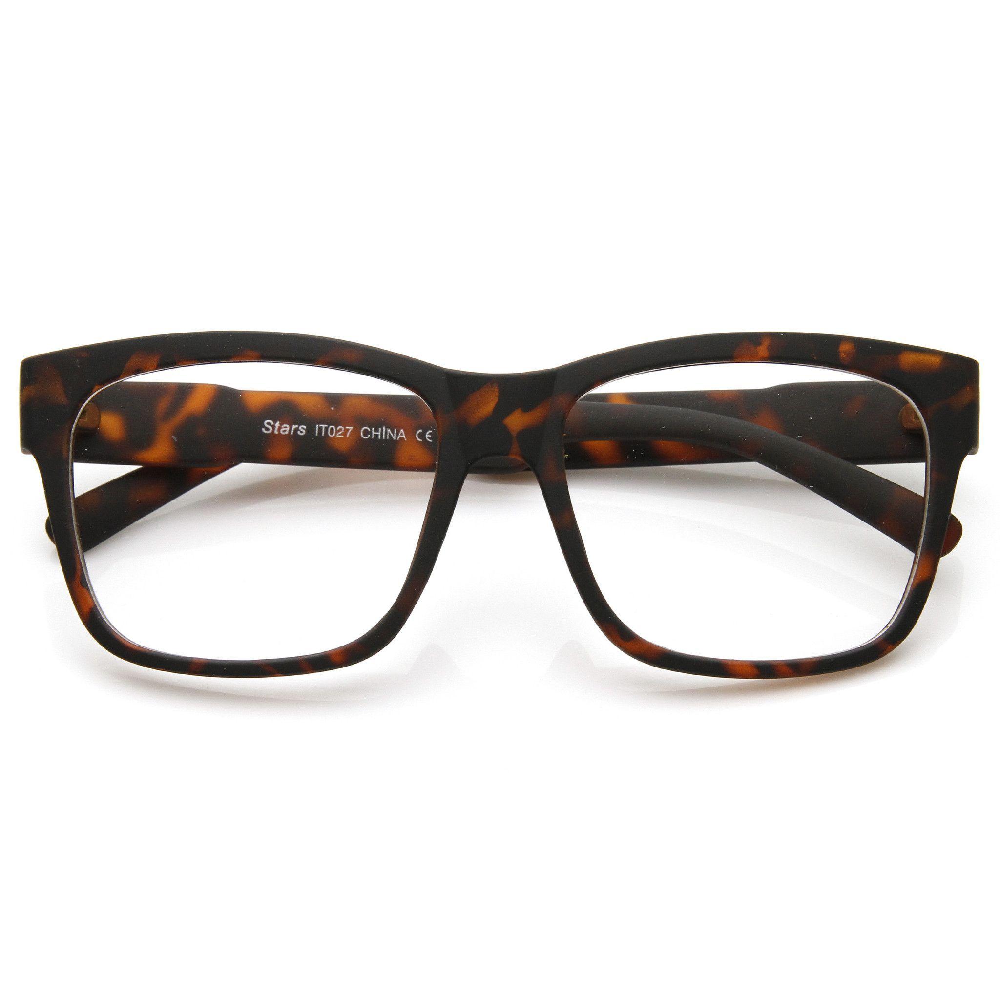 3e00b7d06293 Large Retro Clear Lens Nerd Hipster Horned Rim Glasses 8789 from zeroUV