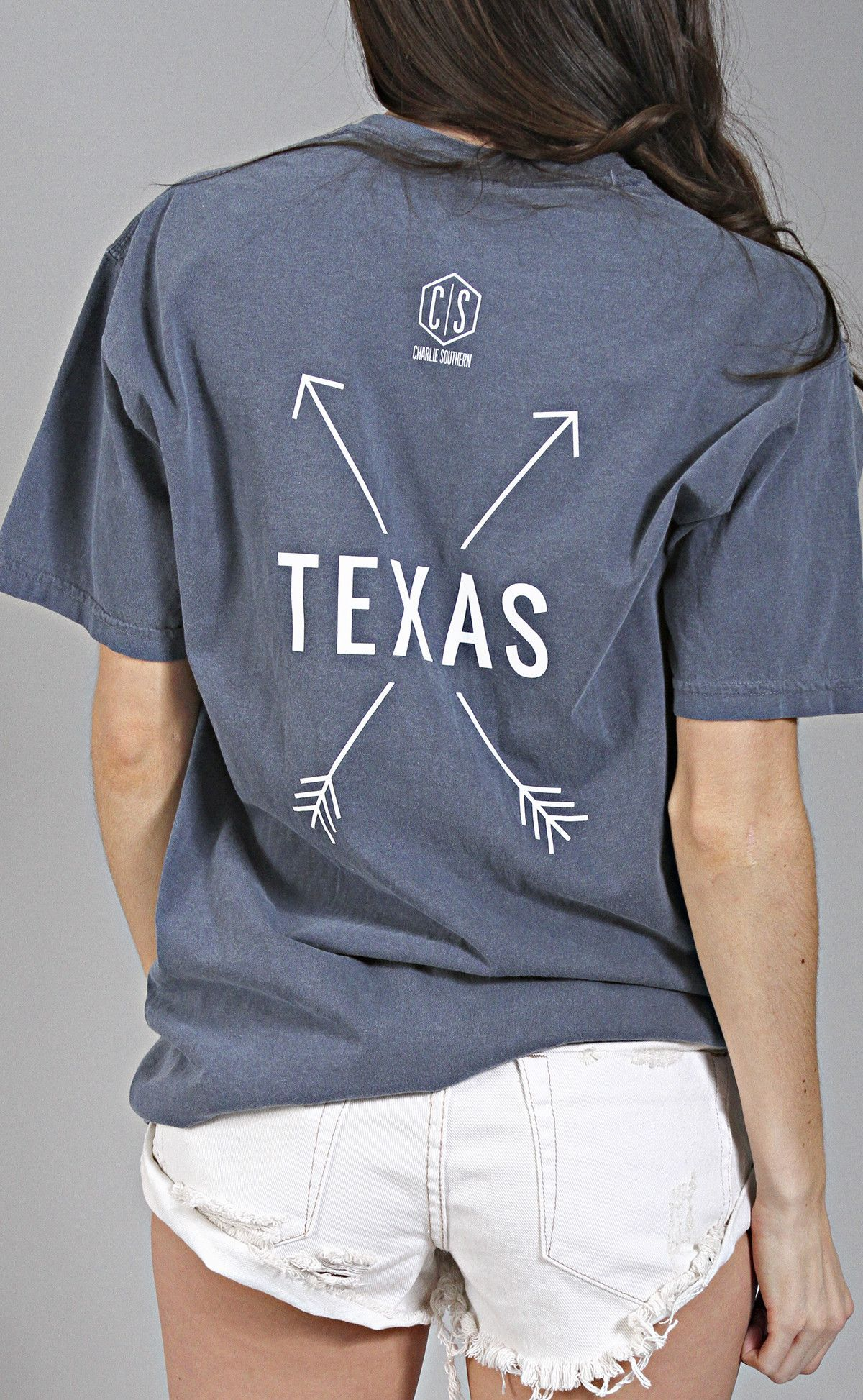 4748f8ca1487 charlie southern  state arrow comfort colors tee - texas  navy ...