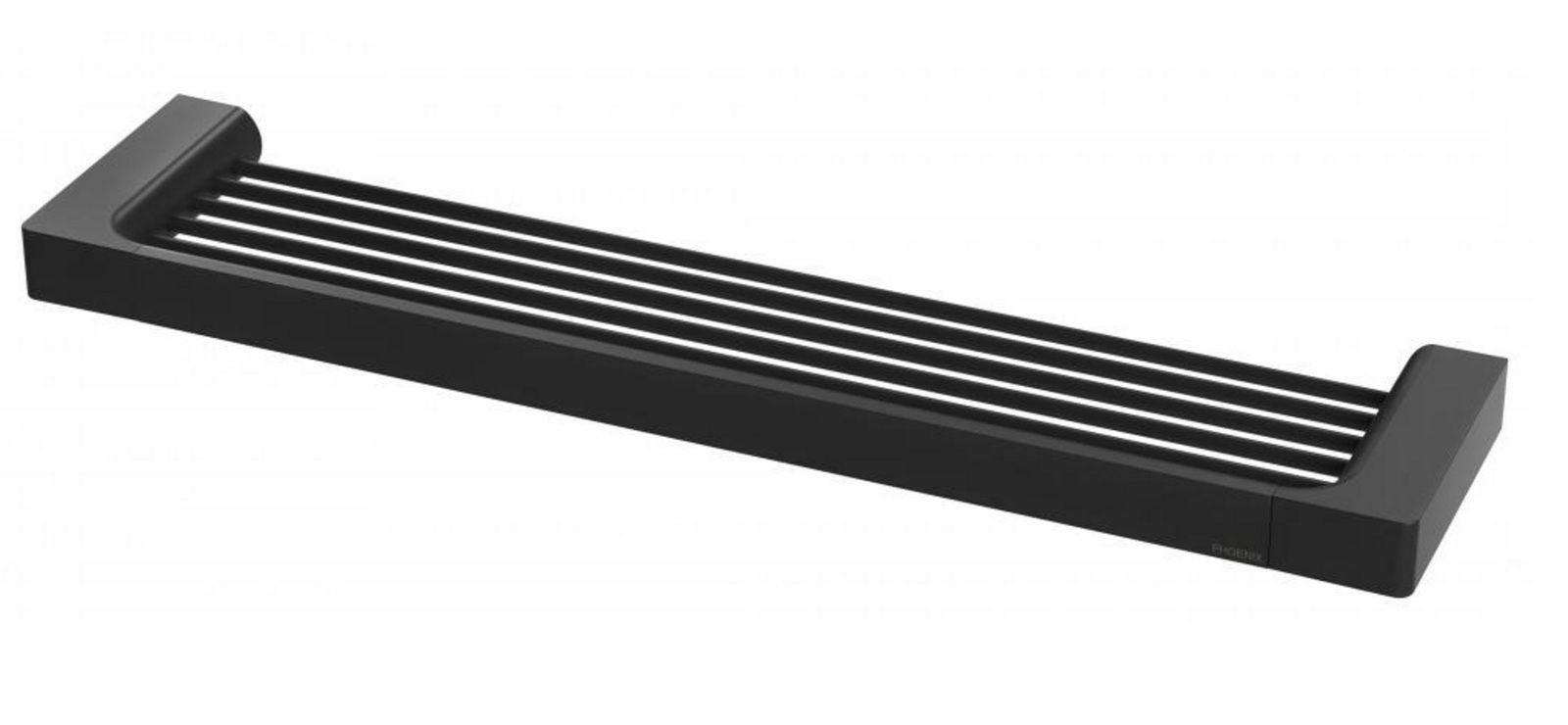 Castano Black Glass Shower Shelf Soap Holder Capri Cagsscb