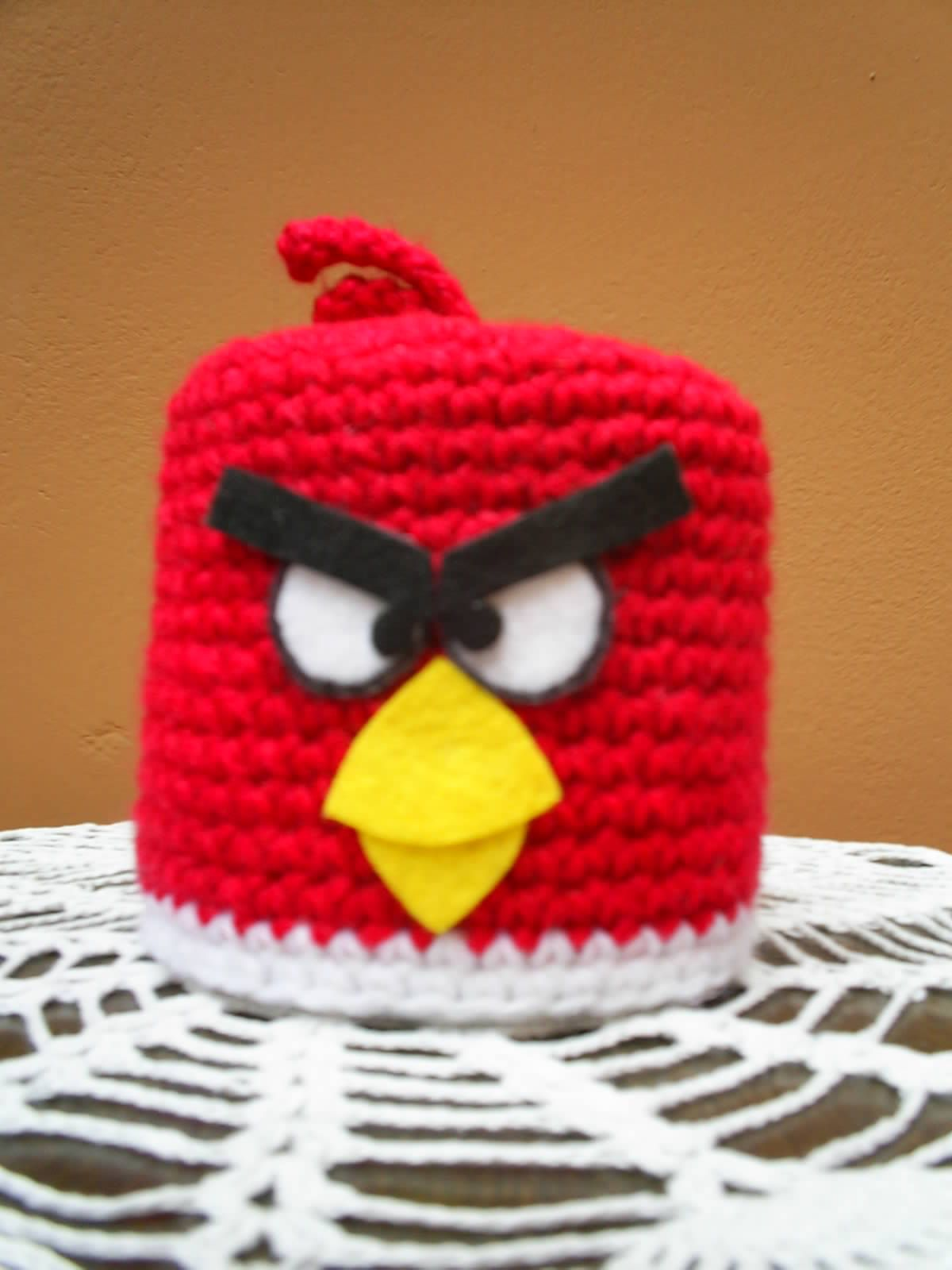 Angry Birds crochet toilet paper cover | My crafts | Pinterest ...
