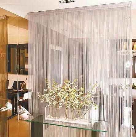 White Beaded Lace Curtain Decorative Room Dividers Lace Curtains Decor
