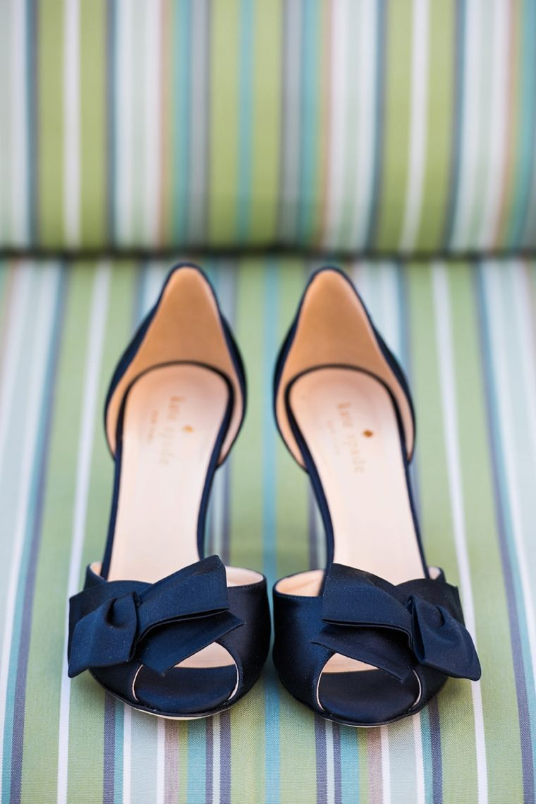 The navy kate spade wedding shoes are the perfect something blue