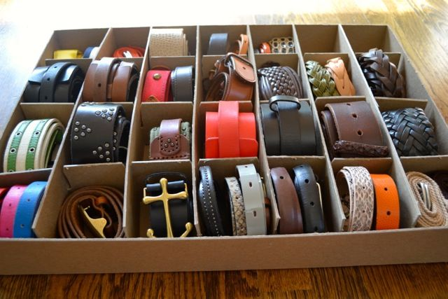 Good How To Organize Belts