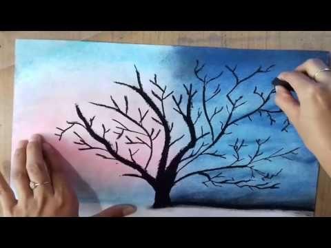 Como Pintar Un Paisaje Estrellado Facil Tizas Pastel Pasteles Secos Speed Drawing Youtub Dibujos Tumblr Dibujos Con Tizas Dibujos Con Tiza Pastel