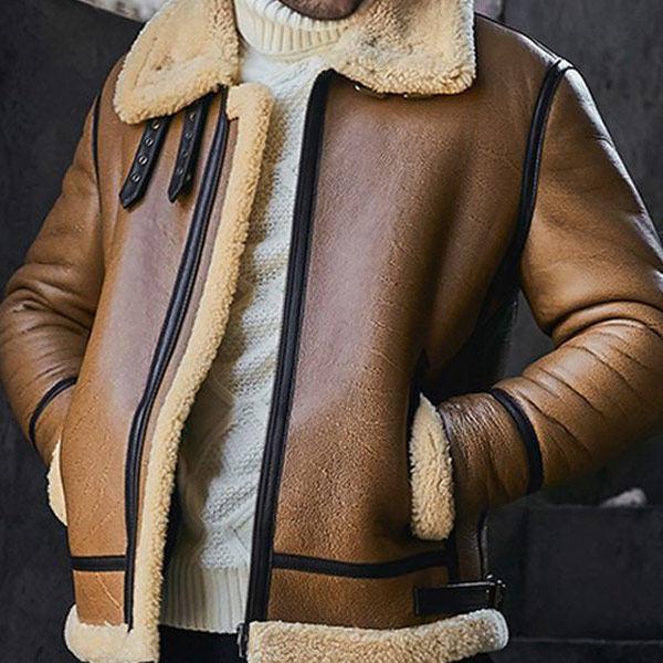 Warm Leather Men Fashion Lapel Long Sleeve Pockets Jacket Coats Glorzone Com In 2020 Mens Fashion Pocket Jacket Fashion