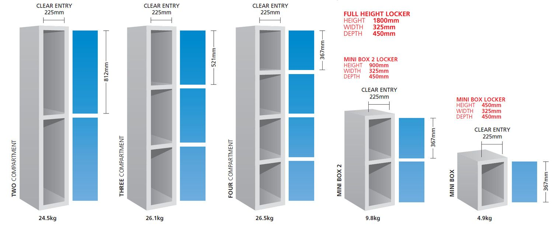 Image result for locker dimensions room