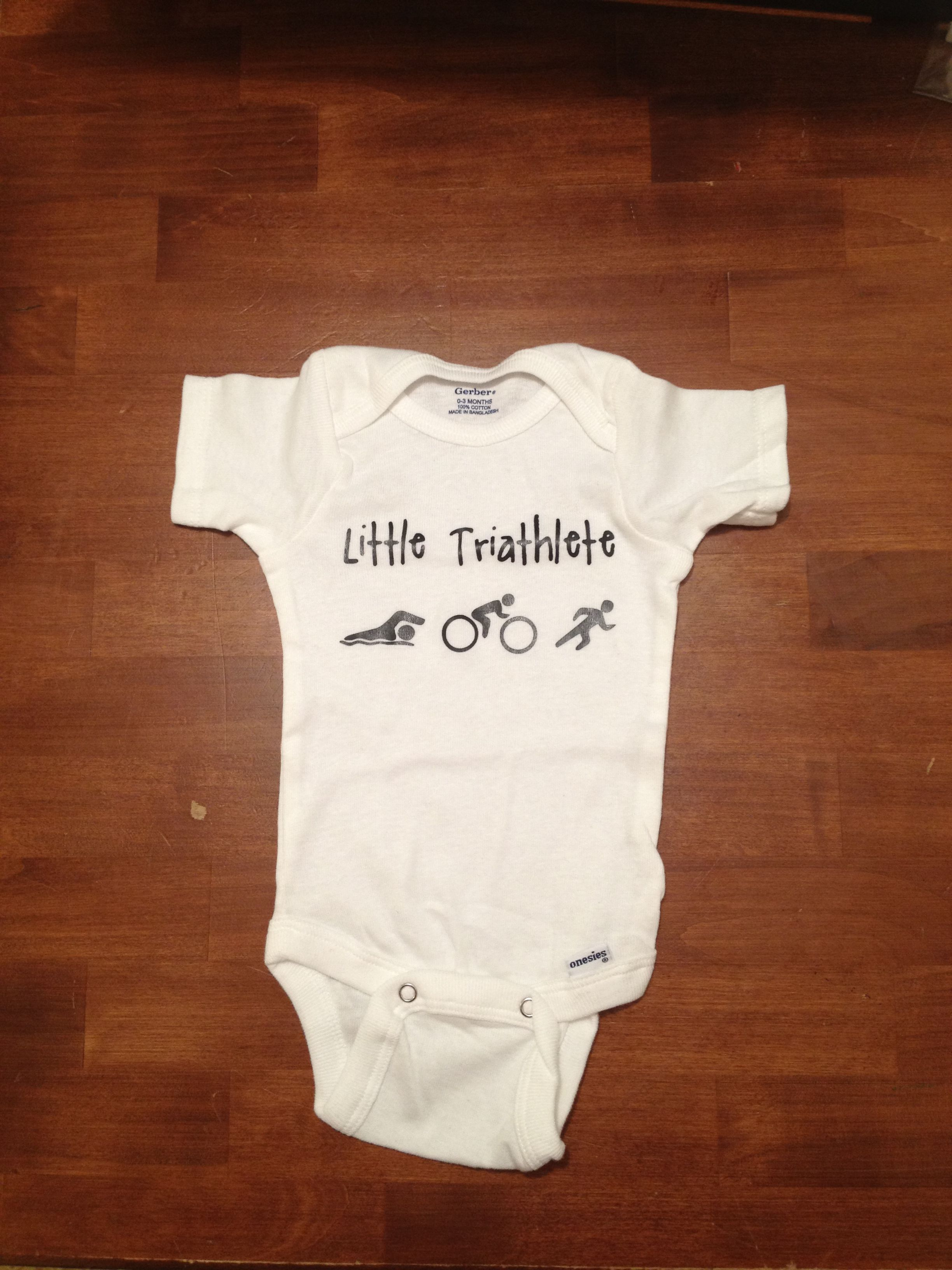 b8638d4b I had this printed to announce that we were pregnant to my hubby. He is a  triathlete so it was fitting! triathlete triathlon pregnant pregnancy  announcement ...